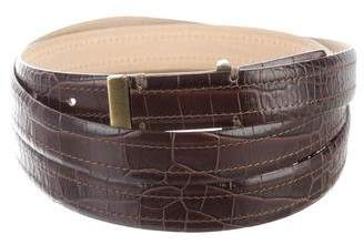 Lela Rose Embossed Leather Wrap Belt
