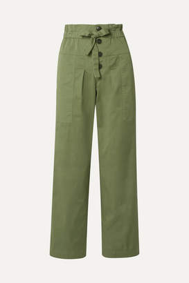 Sea Tula Cotton-blend Twill Pants - Army green