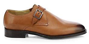 Sutor Mantellassi Men's Namas Single Monk Strap Leather Derby Shoes