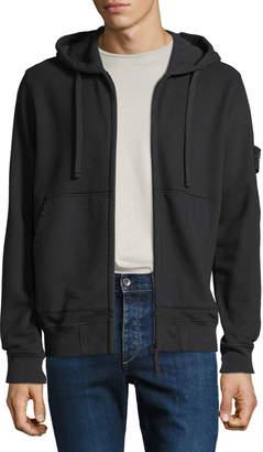 Stone Island Men's Hooded Zip-Front Sweatshirt