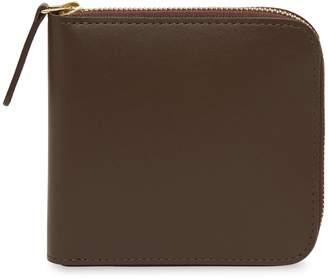 Mansur Gavriel Calf Men's Zip Around Wallet - Chocolate