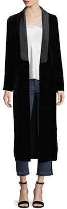 Veronica Beard Velvet Robe Coat