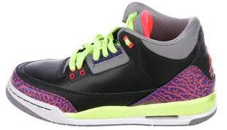 Nike Jordan Girls' Leather Lace-Up Sneakers