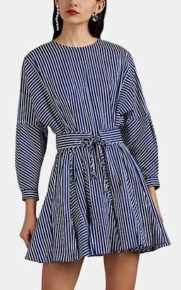 Derek Lam 10 Crosby Women's Candy-Striped Cotton-Blend Belted Minidress - Blue