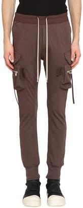 Rick Owens Brown Cotton Cargo Jog Pants