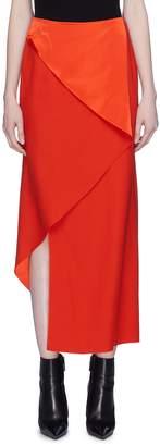 Dion Lee Folded silk satin bias mock wrap skirt