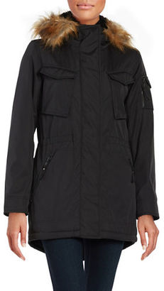 S13 Faux Fur Trimmed Sherpa Lined Field Parka $295 thestylecure.com