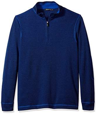 Bugatchi Men's Cotton Long Sleeve Half Zip Knits