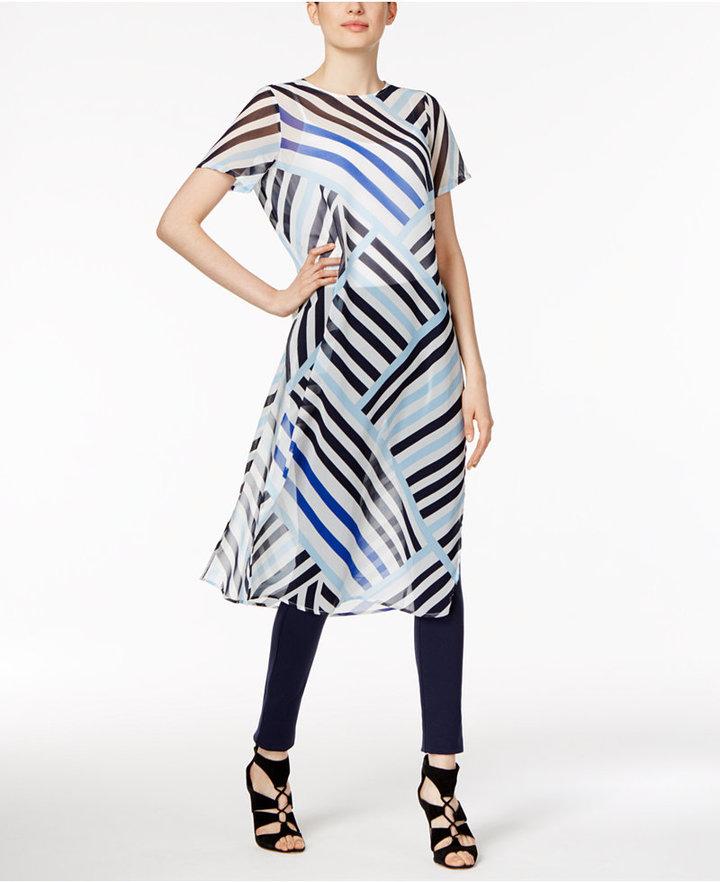 Calvin KleinCalvin Klein Sheer Striped Tunic