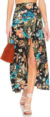 Band of Gypsies Peony Floral Wrap Skirt