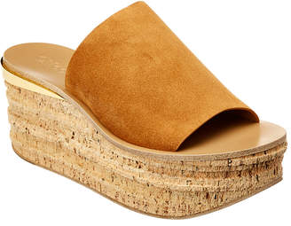 Chloé Camille Suede Wedge Sandal