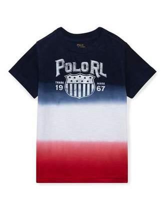 Ralph Lauren Ombre Short-Sleeve Logo T-Shirt, Size 5-7