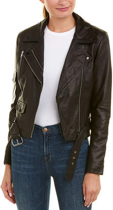 Romeo & Juliet Couture Asymmetrical Leather Jacket