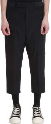 Rick Owens Black Wool Pants