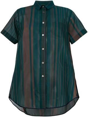 Sacai striped voile shirts