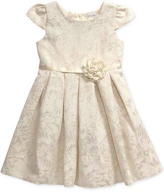Sweet Heart Rose Ivory & Gold Shiny Dress, Little Girls (2-6X) $74 thestylecure.com