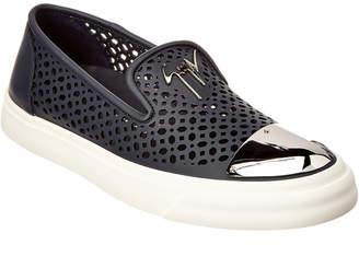Giuseppe Zanotti Perforated Leather Slip-On Sneaker