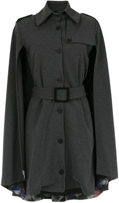 Tufi Duek cape belted dress