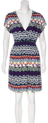 Tory Burch Printed Short Sleeve Dress