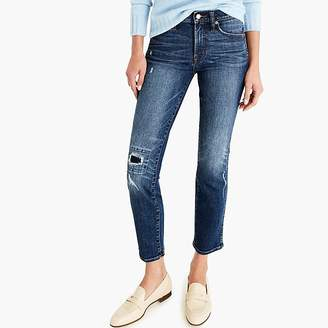 J.Crew Vintage straight jean in rip-and-repair