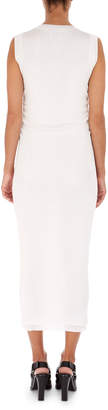 Neiman Marcus Atlein Rib-Knit Long Sheath Midi Dress