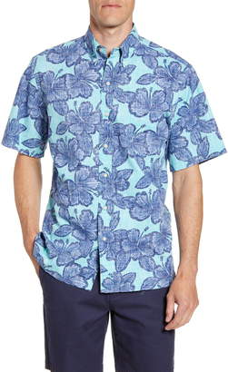 Reyn Spooner Hibiscus Orchard Classic Fit Floral Short Sleeve Button-Down Sport Shirt