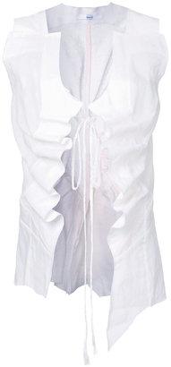 Aganovich drawstring sheer waistcoat $1,094 thestylecure.com