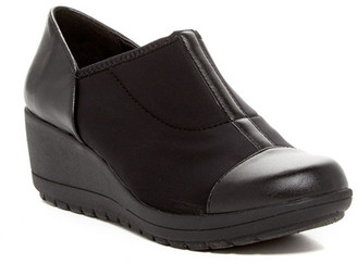 Easy Spirit Cinque Ankle Wedge Bootie - Wide Width Available $89 thestylecure.com
