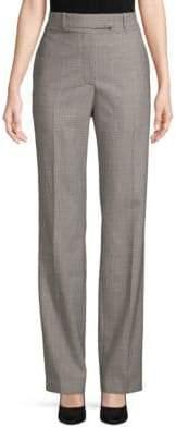 Calvin Klein Glen Plaid Wool Straight Pants