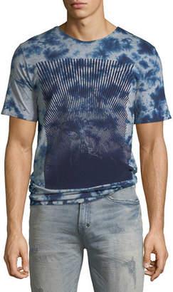 PRPS Men's Flocked Logo Graphic T-Shirt