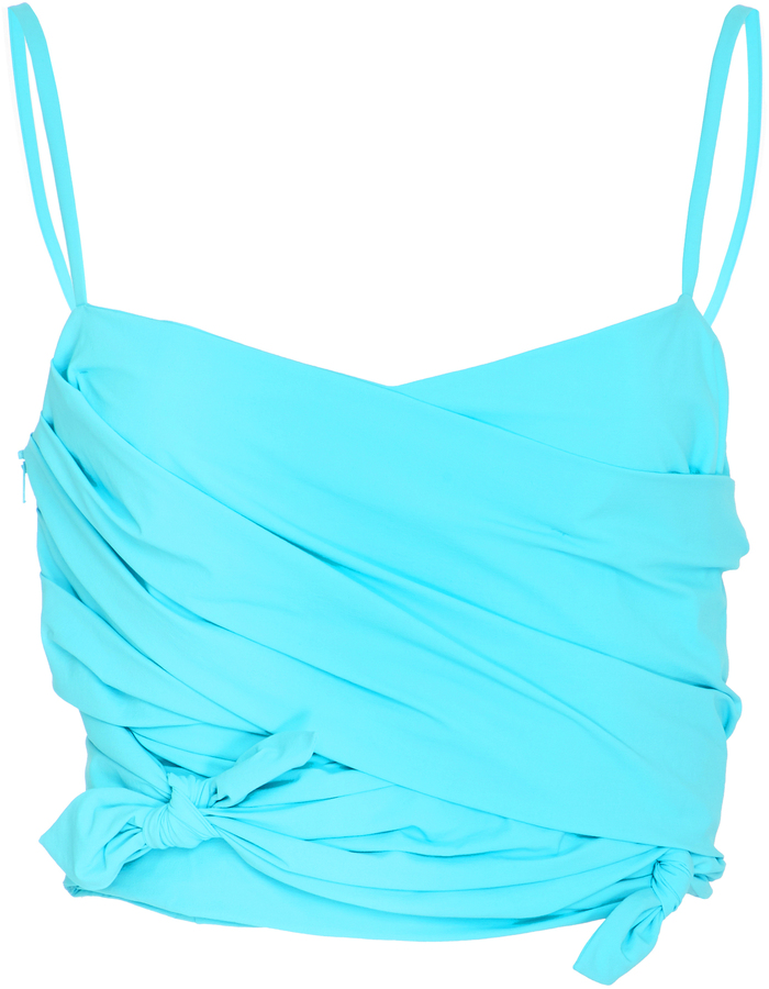 Emilio Pucci Knotted Cropped Top