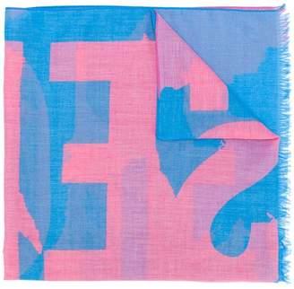Diesel printed style scarf