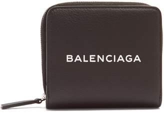 Balenciaga Shopping zip-around leather wallet