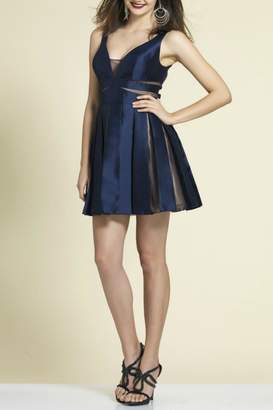 Dave and Johnny Pleated Mini Dress