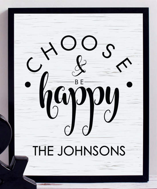 'Choose & Be Happy' Personalized Print