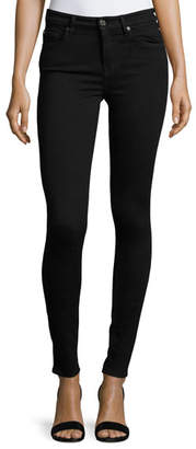 7 For All Mankind High-Waist Skinny Jeans, Slim Illusion Luxe Black