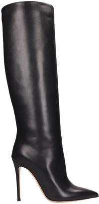 Lerre Black Leather High Boots