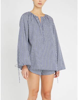 Three J NYC Reese check cotton pyjamas
