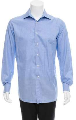 Canali Houndstooth Button-Up