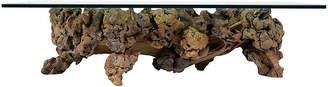 One Kings Lane Vintage Burl Root Wood Coffee Table - Castle Antiques & Design