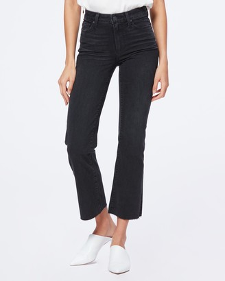 Paige ATLEY ANKLE FLARE RAW HEM-BLACK WILLOW