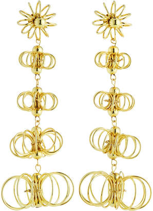 Kenneth Jay Lane Graduating Flower Dangle Earrings