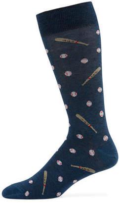 Neiman Marcus Men's Baseball Bats and Balls Socks