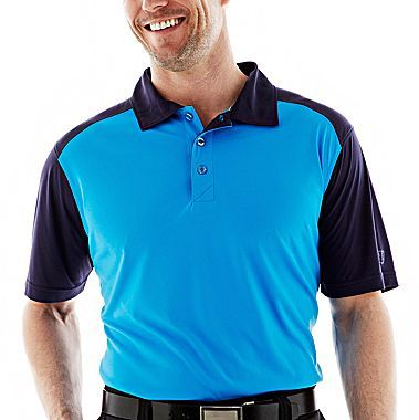 JCPenney St. Andrews of Scotland Shoulder Golf Block Polo Shirt