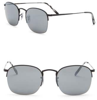 Oliver Peoples Rickman 51mm Half Rim Square Sunglasses