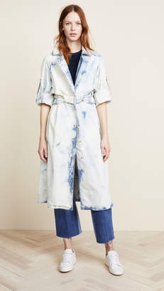 Esteban Cortazar Stretch Denim Trench Coat