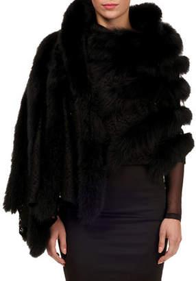 Gorski Fox-Fur Shawl with Lace