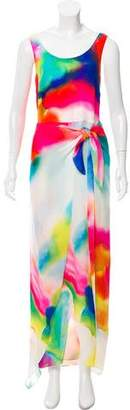 Ralph Lauren Silk Watercolor Print Dress w/ Tags