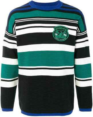 Diesel patch striped jumper