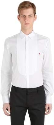 Neil Barrett Plastron W/ Heart Cotton Poplin Shirt